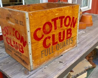 NEW: Vintage Cotton Club Soda Crate