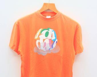 Vintage ADIDAS Sportswear Orange Tee T Shirt Size S