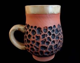 Red Earthenware Handmade Mug