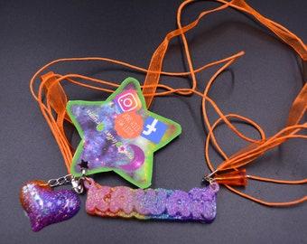 KAWAII Glitter Charm Necklace