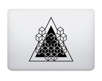 GEOMETRIC WREATH 3d optical illusion Laptop Decal Vinyl Sticker