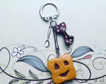 Keychain greed biscuit BN - polymer clay