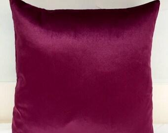 Cherry Velvet Pillow Cover 18x18 Pillow Velvet Cherry Pillow Designer Pillow Velvet Pillows Velvet Cushion Covers Cherry Sofa Pillow Cover