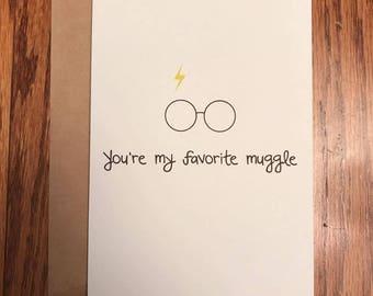 Happy Birthday Ya Flithy Muggle Harry Potter Birthday Card
