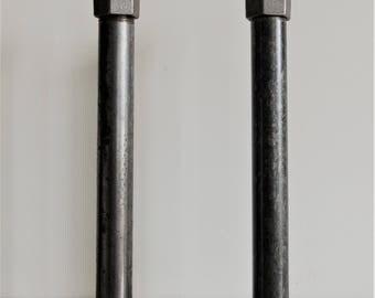 Industrial pipe shelf brackets for floating shelves. x2