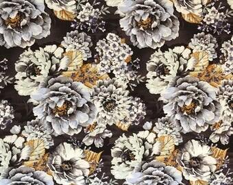 Custom Dark Floral Baby Blanket