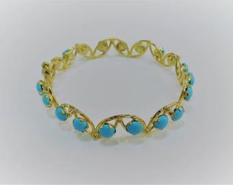 blue stone bracelet 21k gold