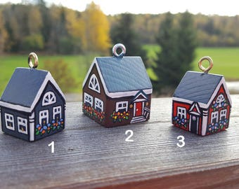 Small Wood House Set Of 3 Small Wooden Houses For Home Decor