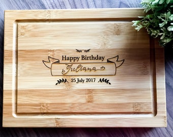 Personalized Serving Board, Custom Presentation Serving Board | Chopping Board | Cheese Board - Birthday Gift