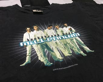 Vintage Backstreet boys t shirt Size L pop dance 90s boy bands
