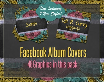 Facebook Album Covers, Styles only, Instant Download, Floral, Digital Album Files, Marketing, Retailer, Consultant