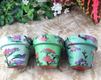 Japanese inspired mini pots (set of 3)