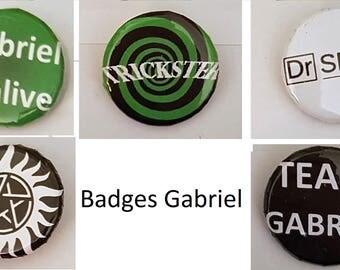 Gabriel Supernatural badge set