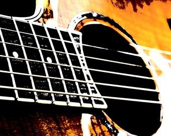 Guitar Close up// Decor Home Wall Art Music 16x20