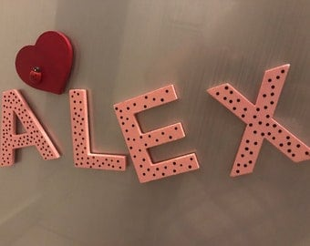 Personalized wooden magnet