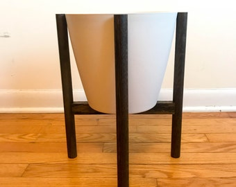 "Plant Stand w/ 10"" Tapered Pot - Mid Century Modern"