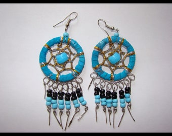 Earrings Dreamcatcher dreamcatchar native country