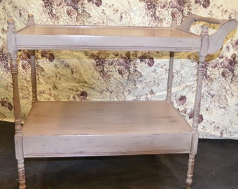 Stunning Solid Wood Trolley/Table with Drawer-Collection or Courier Collection Only