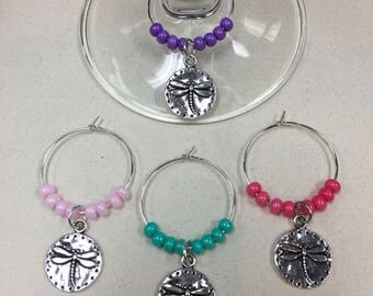 Dragonfly Wine Charms