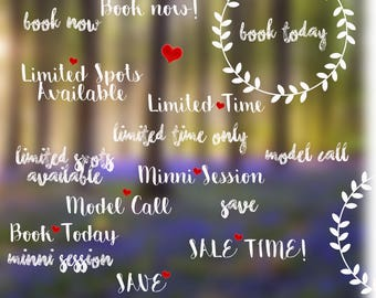 Word overlays | advertising | templates | photography | marketing | INSTANT DOWNLOAD | blogging | overlays | mini session | senior session