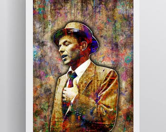 Frank Sinatra Poster, Frank Sinatra 1915-1998 Memorial Artwork, Frank Sinatra Tribute Poster for Fans