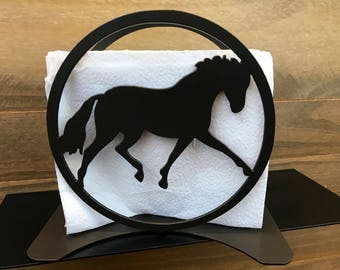 Horse Napkin Holder / Horse Kitchen Decor / Outdoor Napkin Holder / Mail  Holder