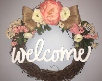"14"" Spring wreath"