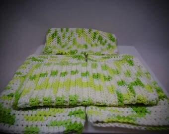 Green, Crochet Wash Mitt, Crochet Bath Mitt, Crochet Wash Cloth, Knit Wash Mitt, Knit Bath Mitt, Knit Wash Cloth, Bath Accessory, Shower