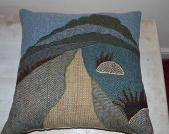 Pen-y-ghent Cushion in Harris Tweed