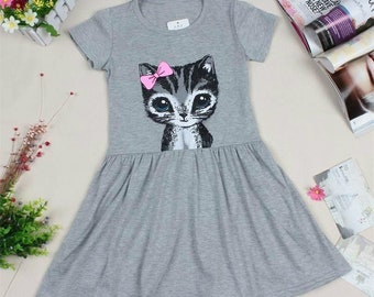 Girls Cute Cat Dress