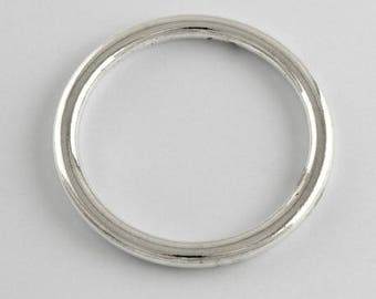 Set of 10 rings for dream catcher 6 cm - silver