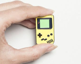 Yellow Classic Gameboy Enamel Pin - Great Gift for Gamers - Retro Gaming Christmas Gift