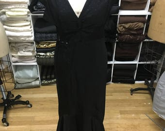 1960's Black and Blue Evening Gown