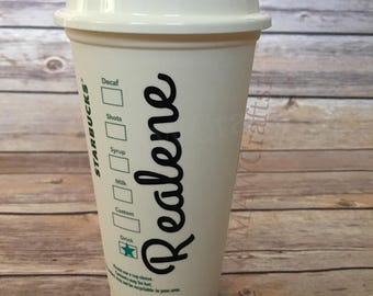 Add Name On The Side Of A Cup Add-On Item