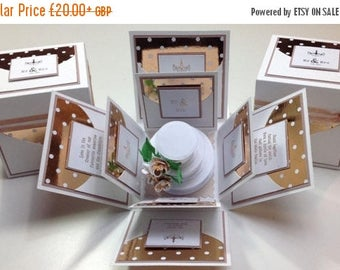 Flash Sale Exploding Wedding Keepsake Box ~ Midi 2.5'' Square
