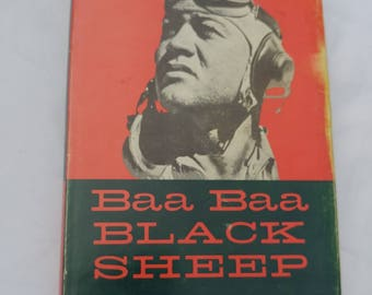 Baa Baa Black Sheep Book by Pappy Boyington // WWII Collectible Biography // Military Memorabilia