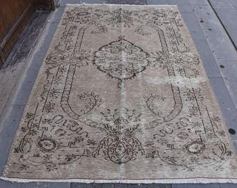 Free shipping Anatolian Vintage Rug Muted Colored Turkey Rug 5.1 x 7.5 feet Rugs Home Decor Rug Area Rug Wool Aztec Rug Boho Rug Code27
