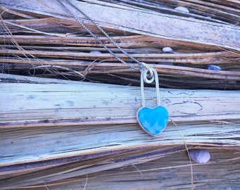Love Heals - Safety Pin Necklace