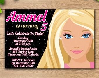 Barbie,Barbie Invitation,Barbie Birthday Invitations,Barbie Birthday,Barbie Birthday Party,Barbie Party,Barbie Party Supplies,Barbie Print