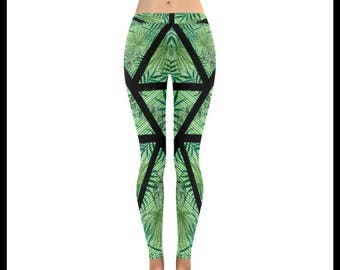 The Calm Palm Low Rise Leggings