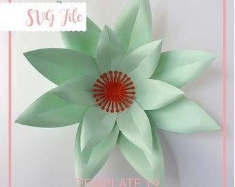 Large Paper Flower Template & Tutorial, SVG Paper Flower, Giant Paper Flowers,  DIY Wedding BackDrop, Paper Flower Wall, Flower Template