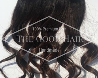 """14"""" Brunette Balayage One Piece Clip-In Extension"""