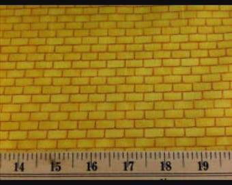 Wizard of Oz yellow brick road cotton fabric sewing by the yard