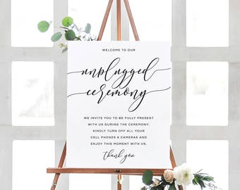 Unplugged Ceremony Sign, Unplugged Wedding Sign, Unplugged Wedding, Unplugged Ceremony, Wedding Unplugged Sign Printable, Instant Download