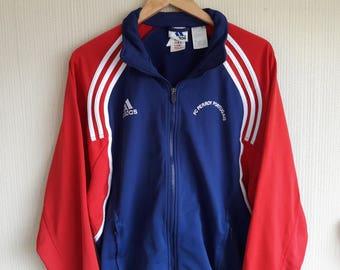 Vintage 90's Adidas windbreaker small, adidas three stripes red jacket, adidas vintage, adidas windbreaker small, 90s adidas jackets jacket