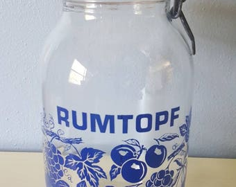 Vintage Locking Large Glass Jar.