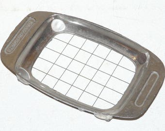 Vintage FRENCH FRY CUTTER Cast Aluminum Hand Held Wire Grid