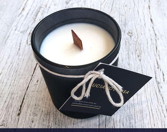 French Vanilla Wood Wick Soy Candle - FREE Delivery