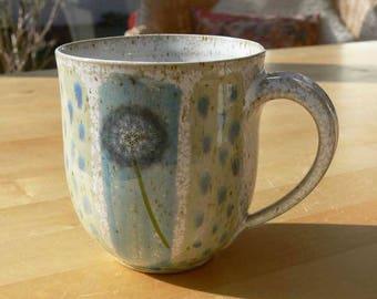 big mug - dandelion flowers
