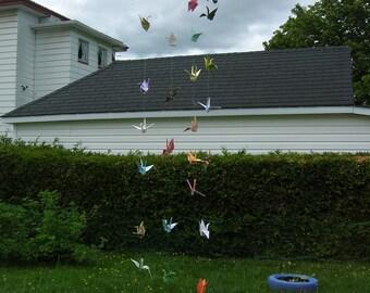 Strands of  Origami Cranes